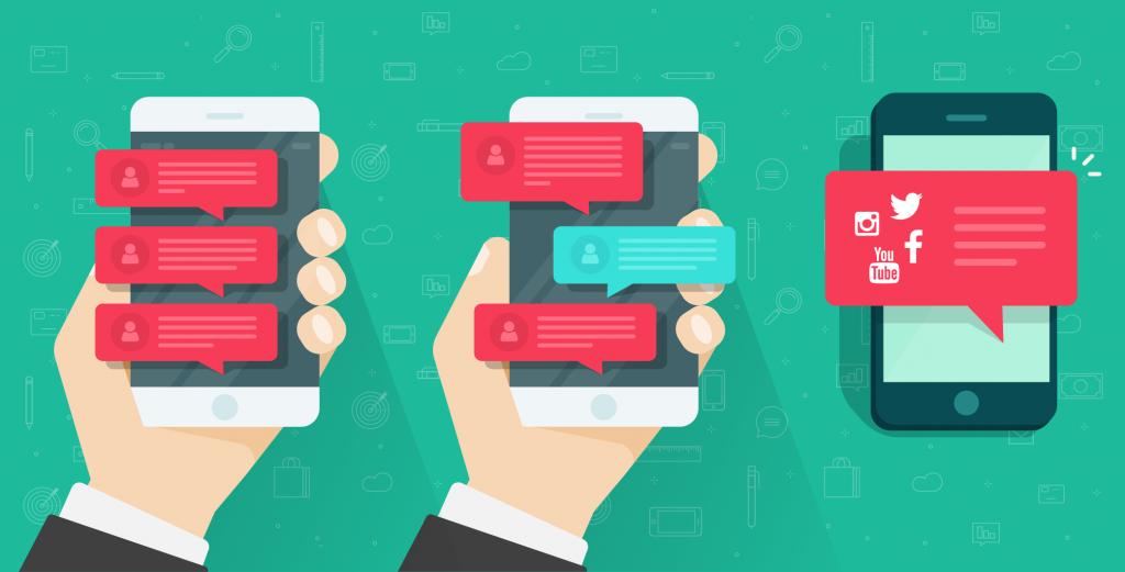Phone sociale media